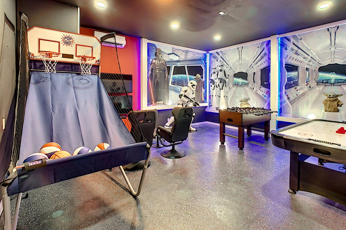 Have Lots of Fun in this Air Conditioned Game Room!