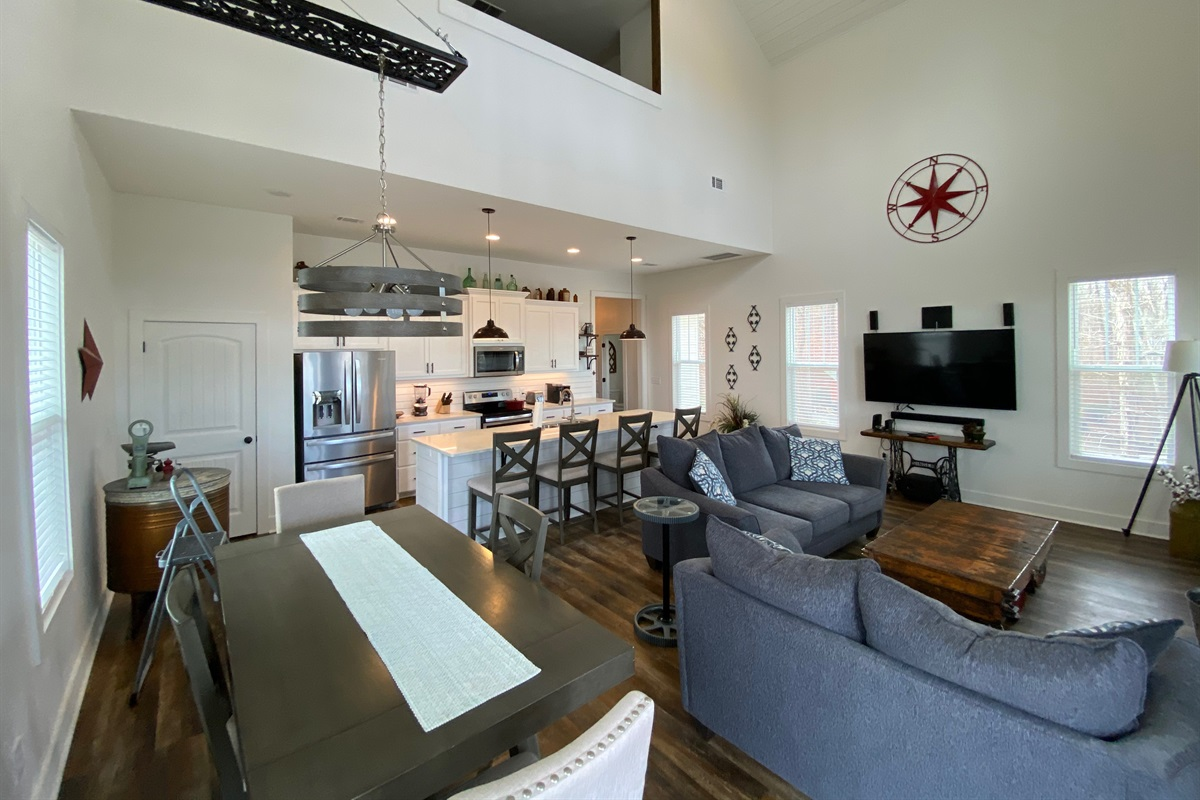 Kitchen, Living and Dining Area, ALL Open Space!