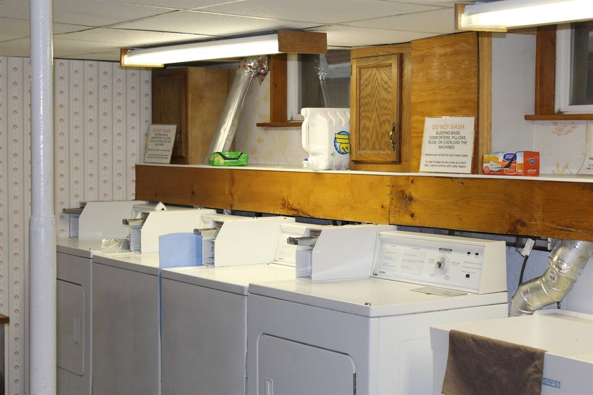 Shared laundry room - FREE to our guests (Yes, they are coin-op, but we provide the quarters!)