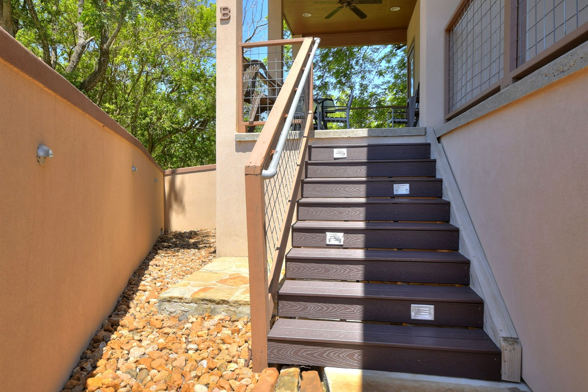 HH #B - Back Stairs to Pool/Spa