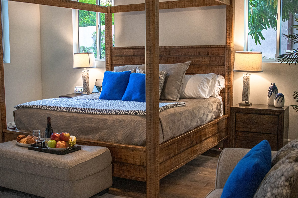 Premium linens, blackout shades, smart home technology, and tons of storage space