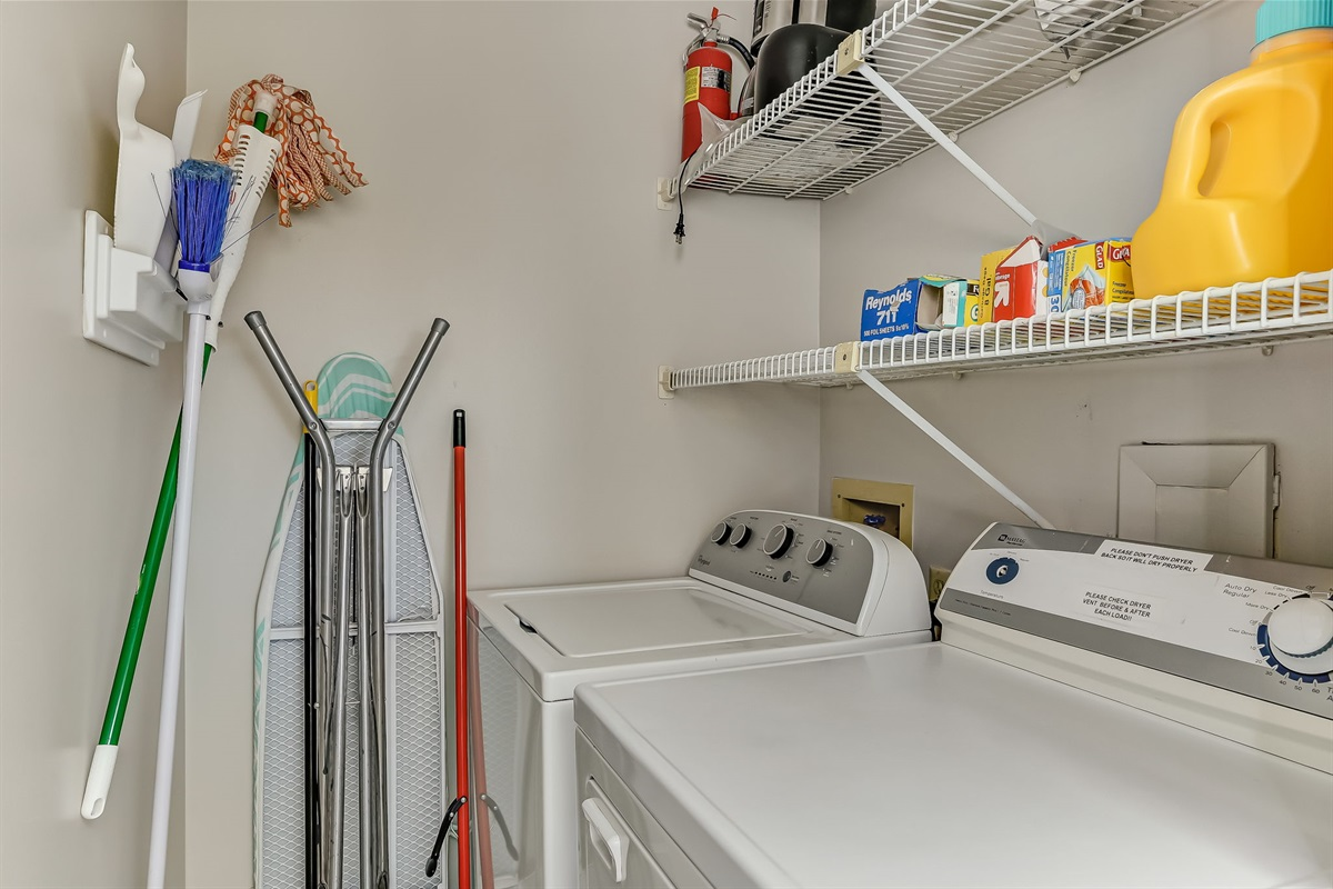 Full Laundry Room in Unit