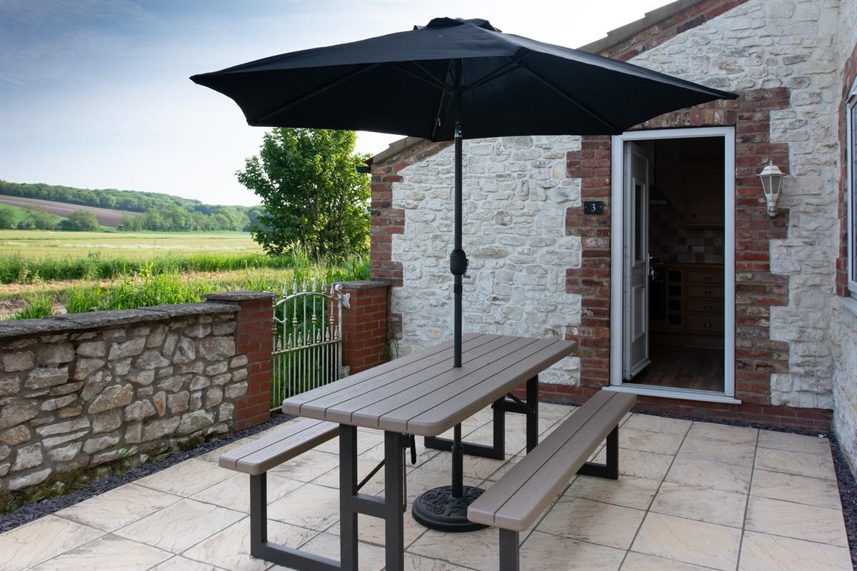 Private Garden & Seating Area