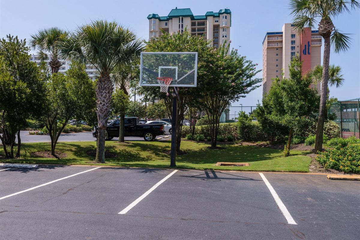 On-site basketball goal