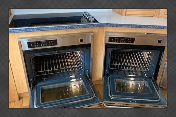 Dual ovens, dual dishwashers, and huge fridge for entertaining.