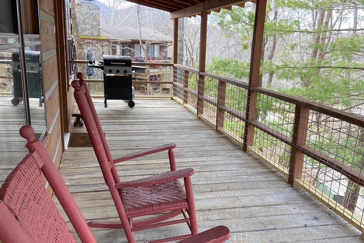 Enjoy coffee or grilling on the covered porch!