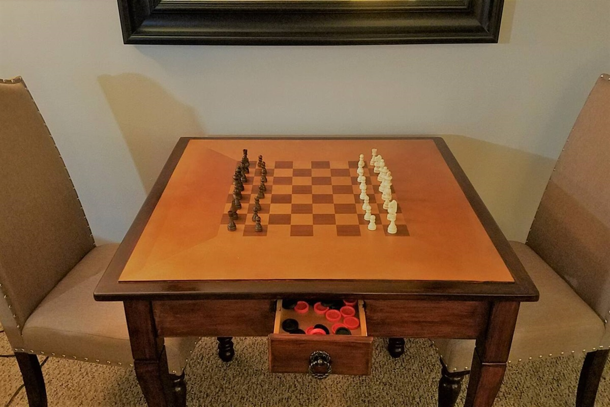Chess/Checkers Table