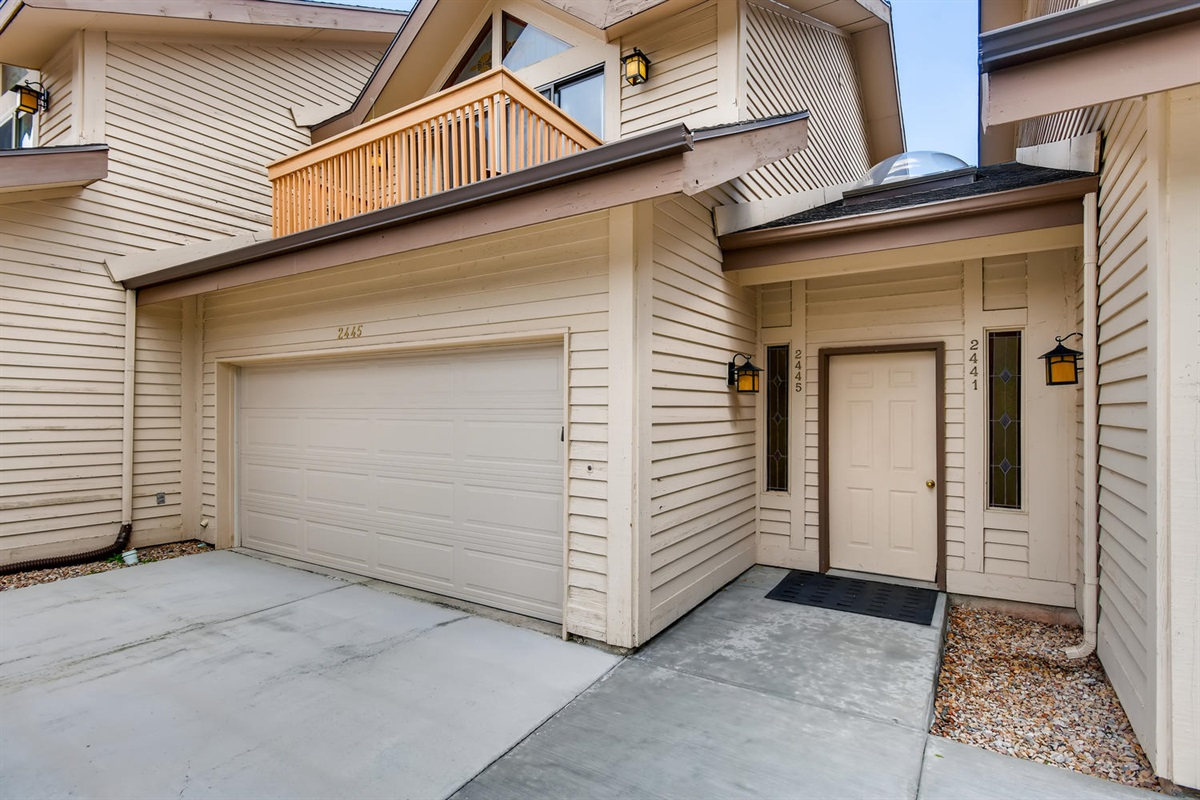 Private 2 car garage with additional off street parking.