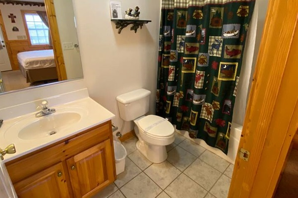One of the full bathrooms
