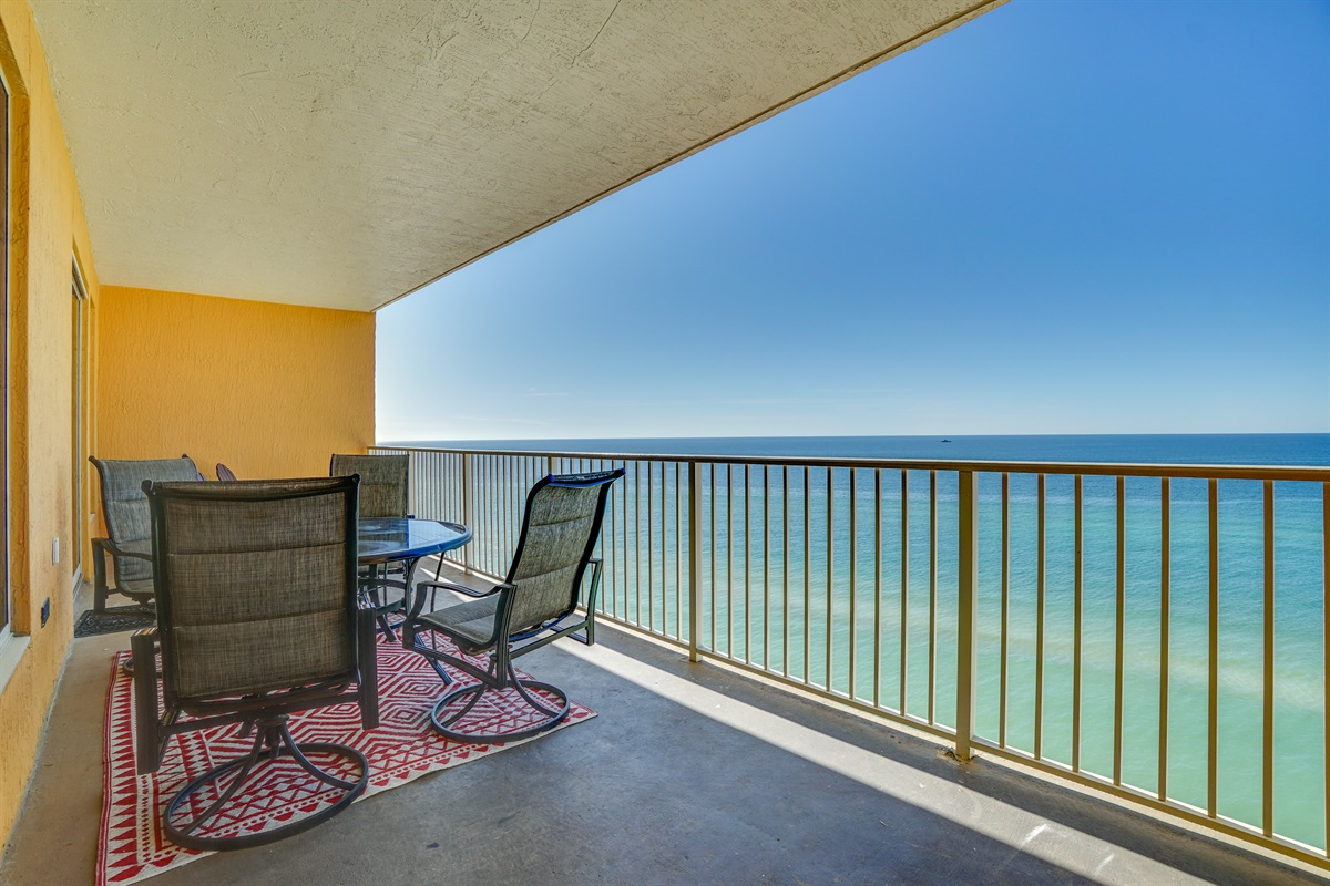 Large Beachfront Balcony