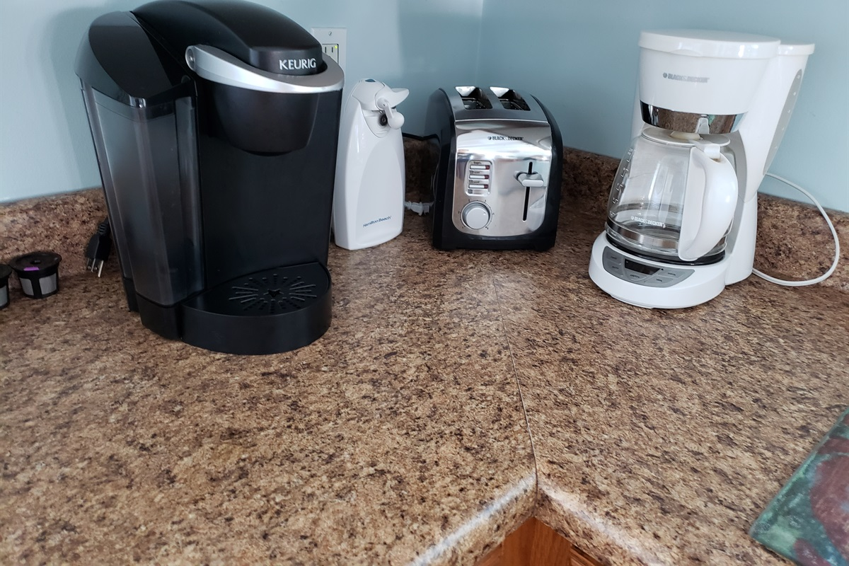 Both Coffee Maker and Keurig Provided