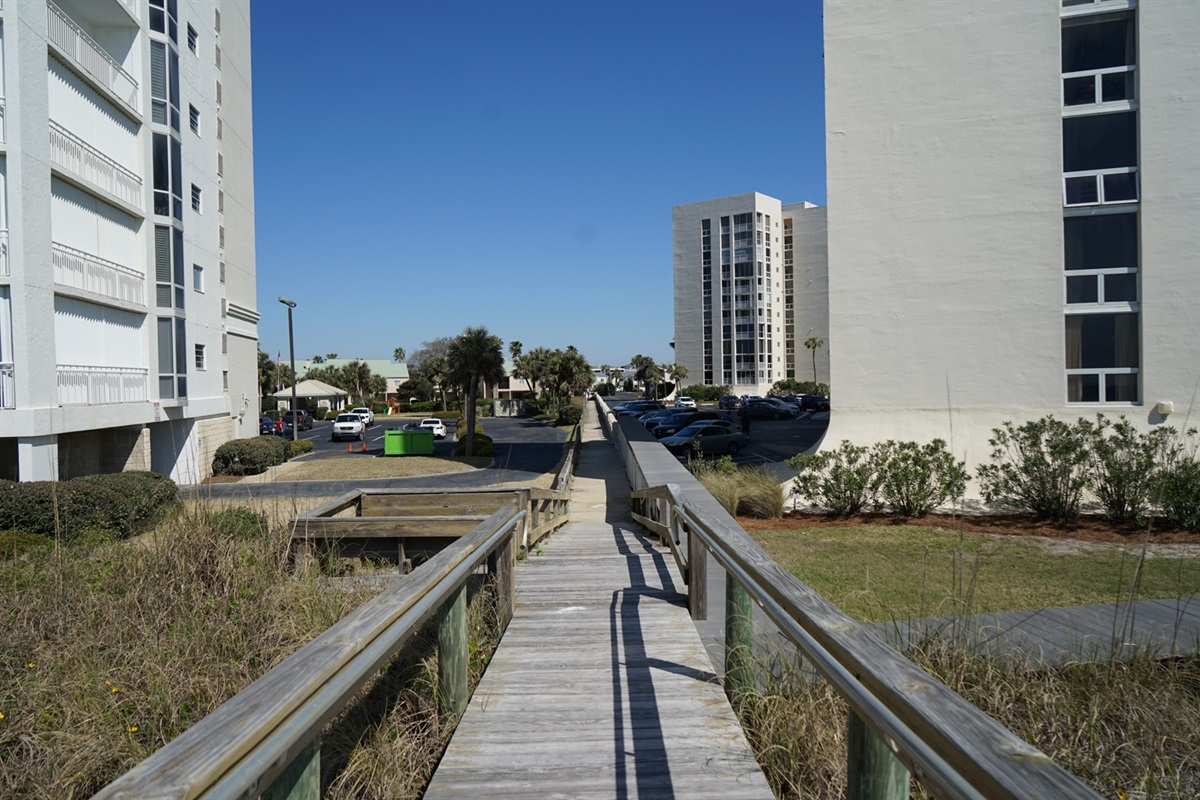 Walkway from beach access to Shoreline Gardens community