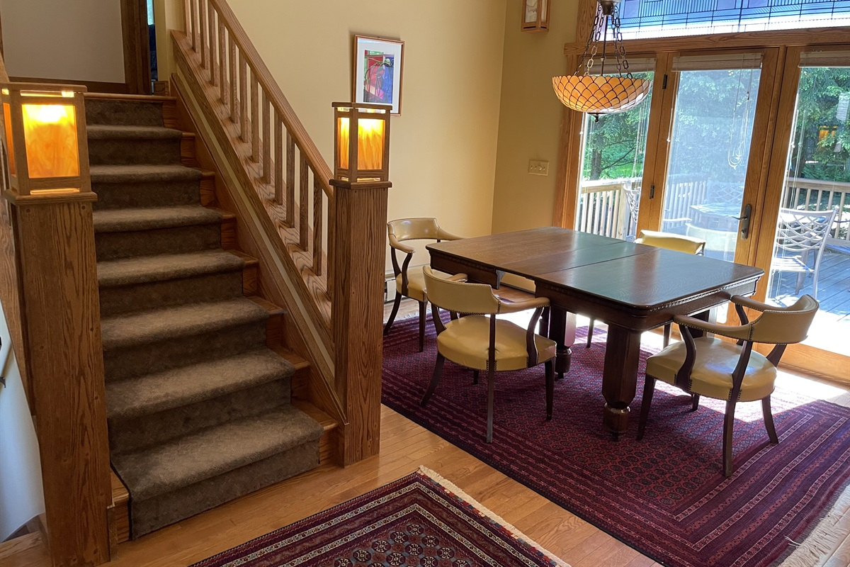 Dining Area stairs leading to 2 bedrooms and 2 baths..