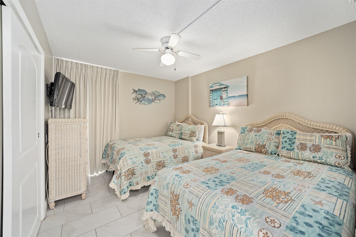 Guest Bedroom with Two Standard Size Beds