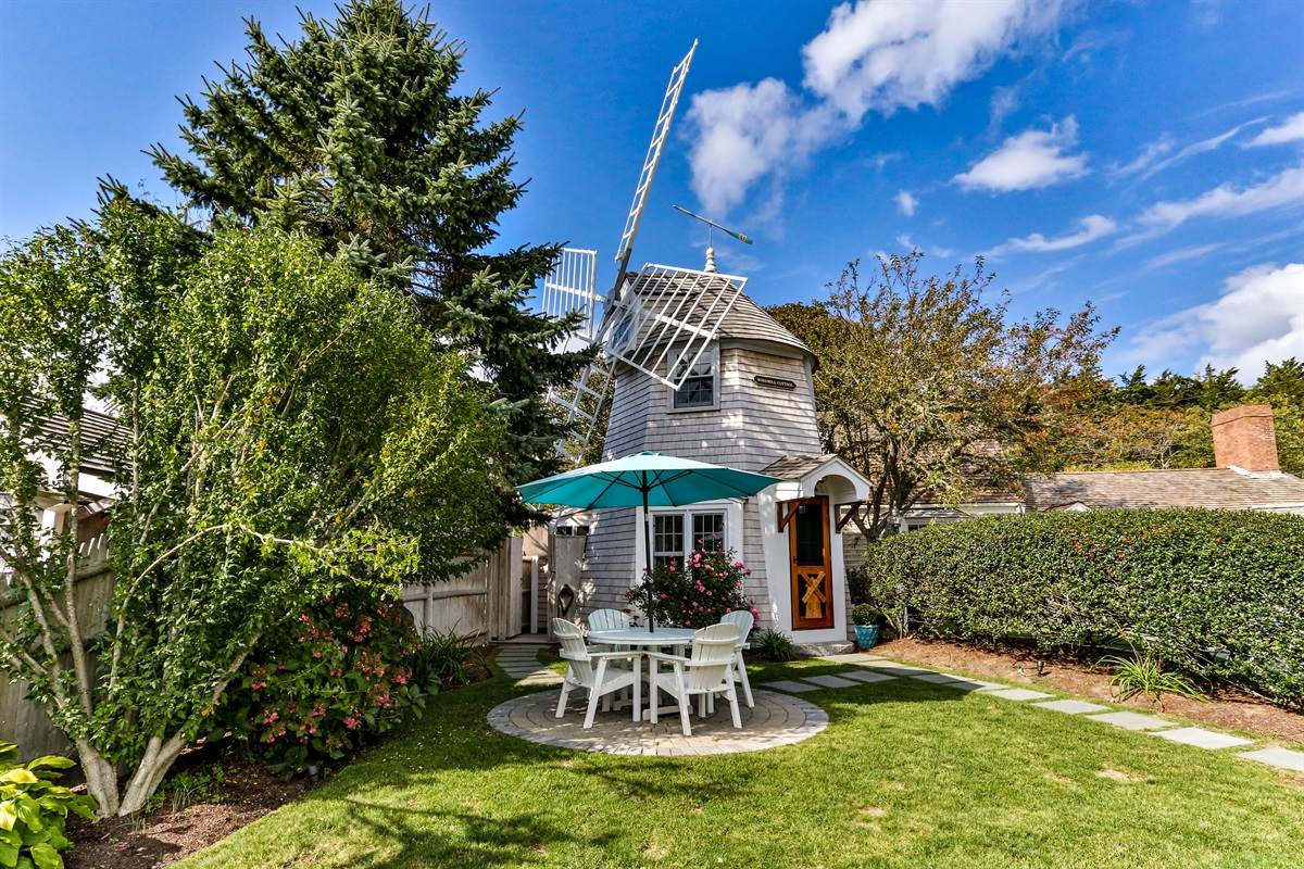 Unique and rich in character and charm, this recently restored vintage and historic windmill has two bedrooms, a kitchen, combined living and dining room and a full bath.