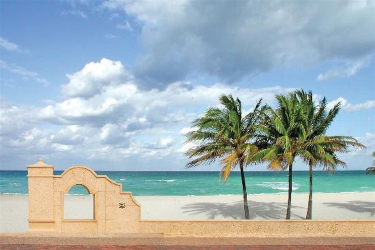 Hollywood beach is a famous and historic beach and boardwalk.  Located less than a mile from the home :-)  We love to give suggestions of local restaurants and hidden gems ;)