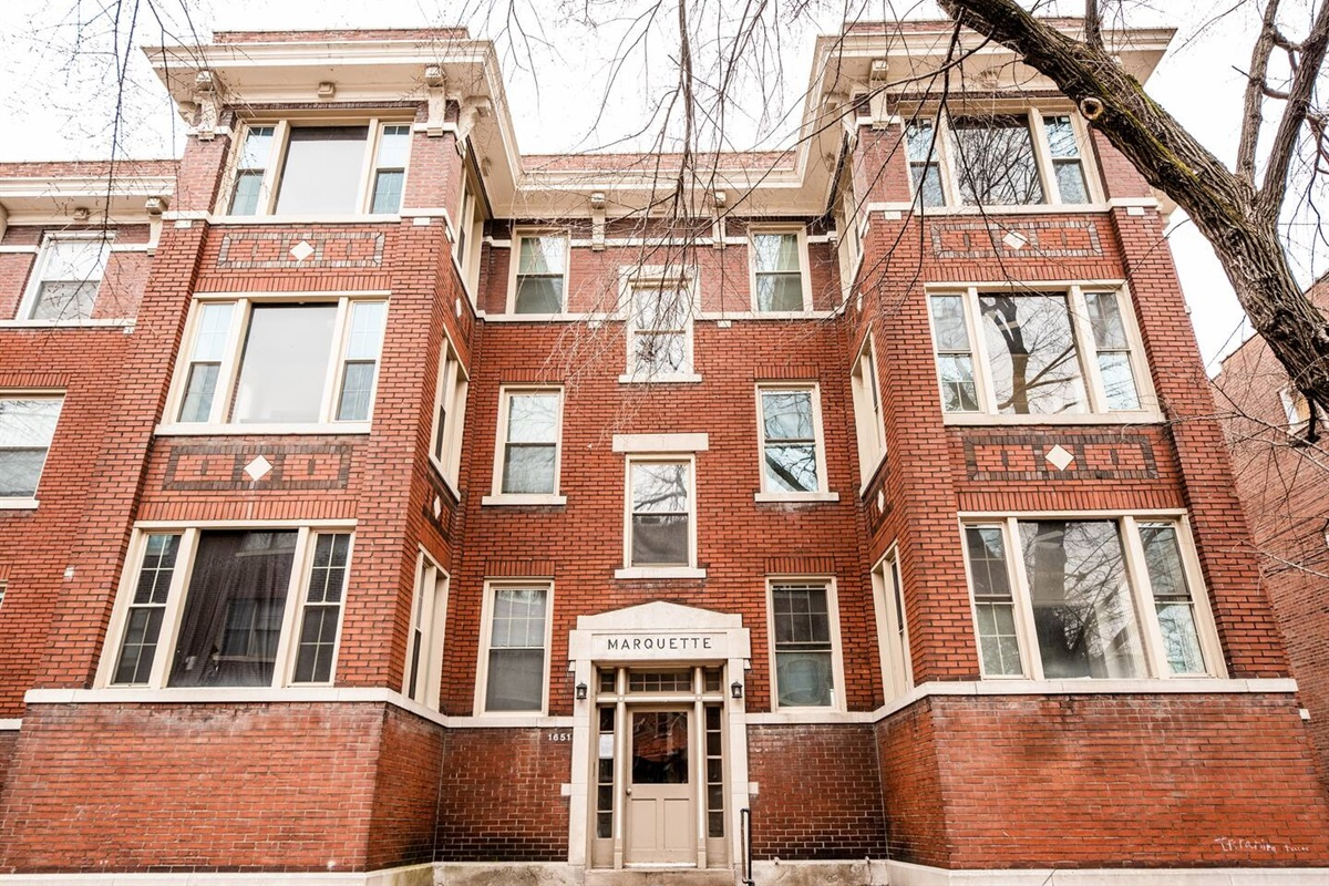 Marquette building is one of the first three story 12 unit buildings in this area of St. Louis.  It is truly historic.  We are restoring it to its previous splendor.