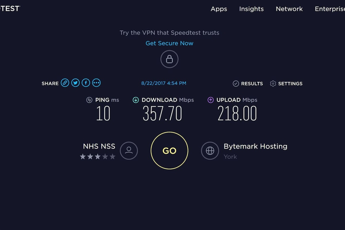 Fast reliable internet...