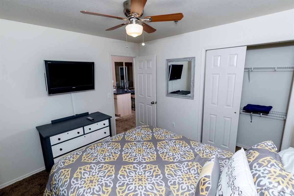 The split floor plan offers privacy for the second bedroom!