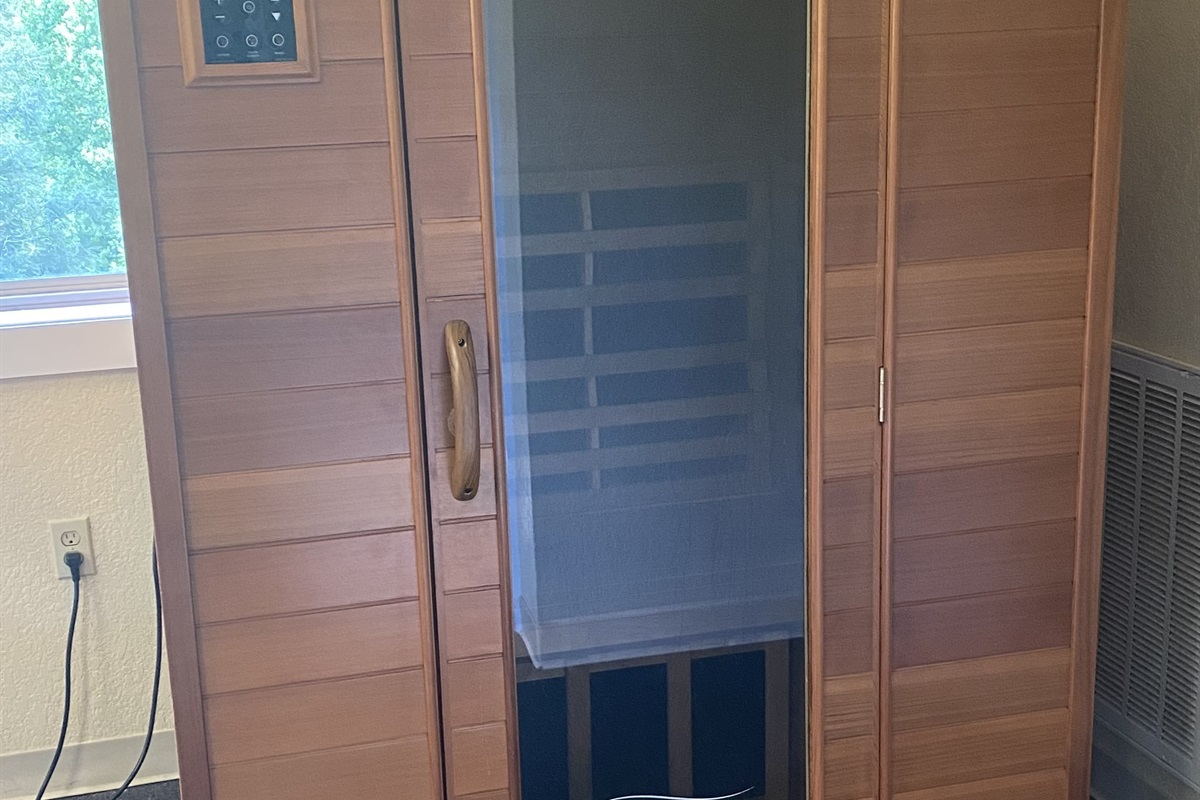 Sauna inside the gym at Wild Laurel Clubhouse
