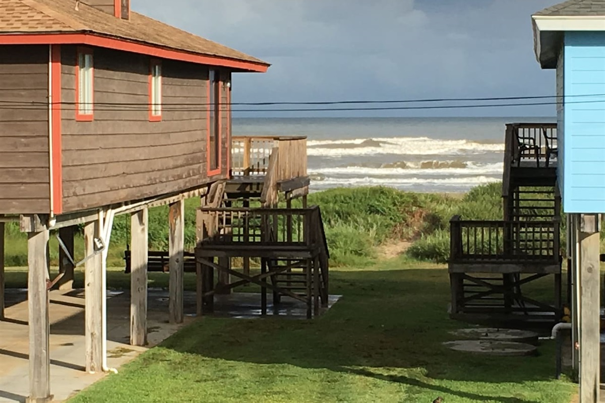 Watch the waves roll in from the deck or dining area