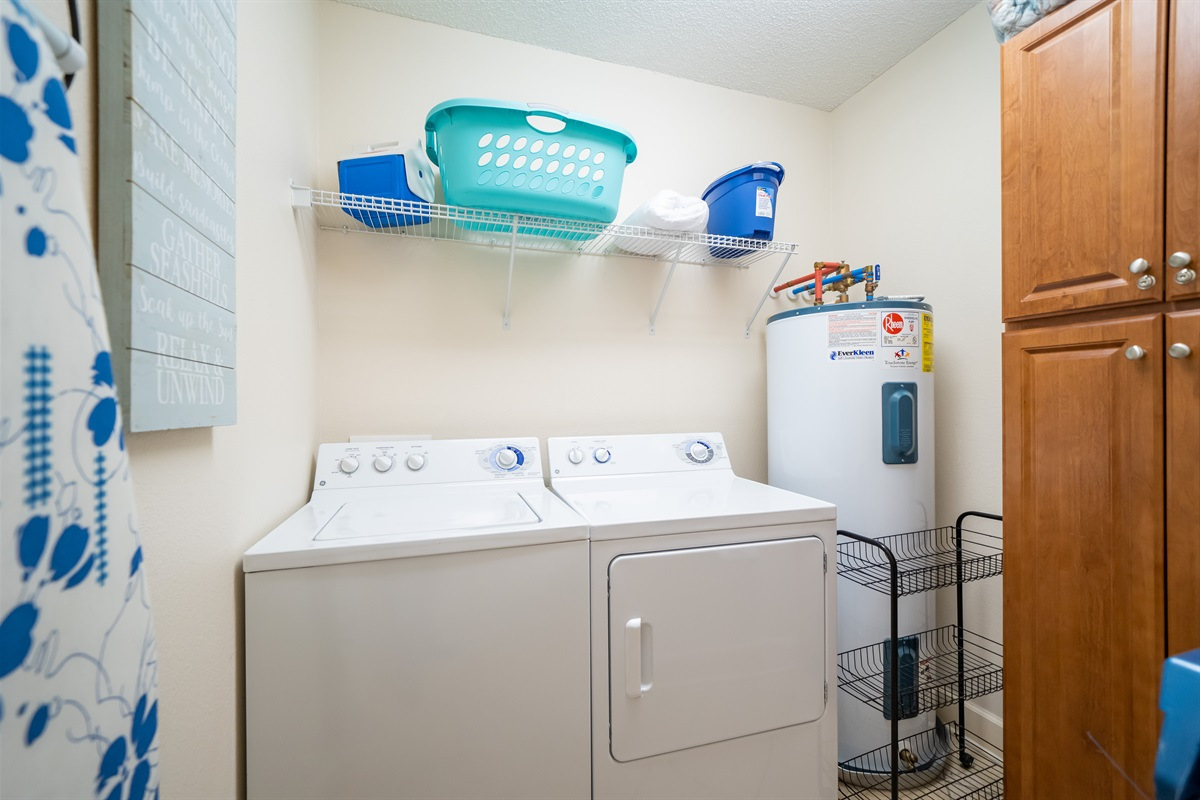 Full size washer/dryer!
