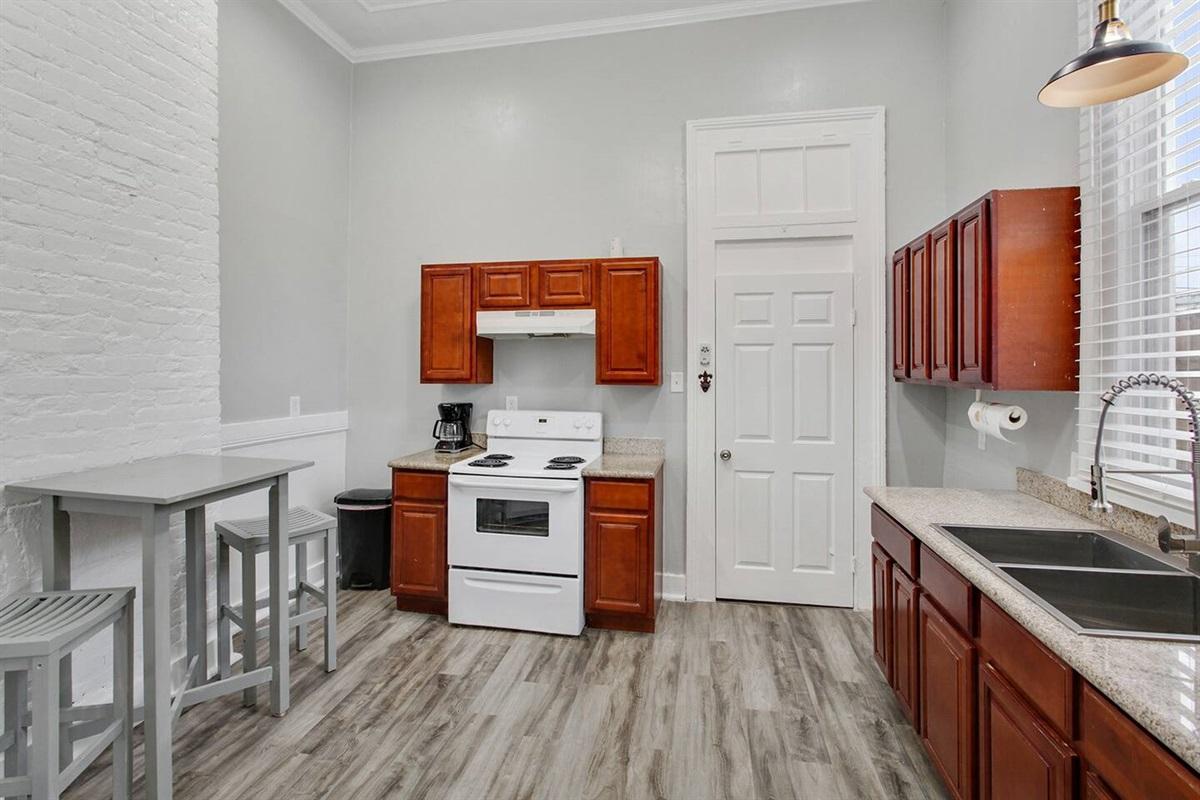 Kitchen - door to bedroom 2.