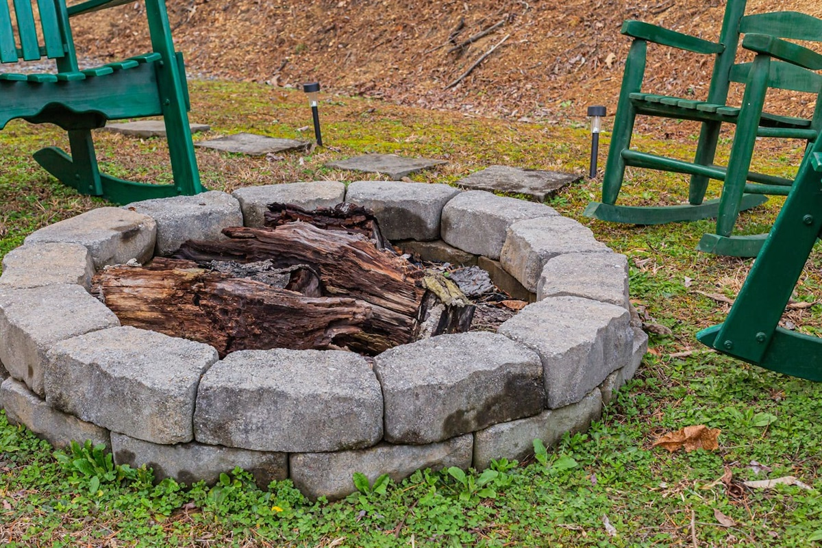 Fire pit with rockers