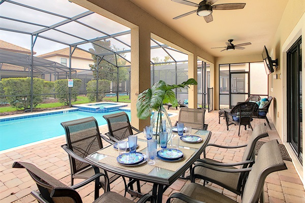 Covered Lanai-West Facing Salt Water Heated Pool & SPA
