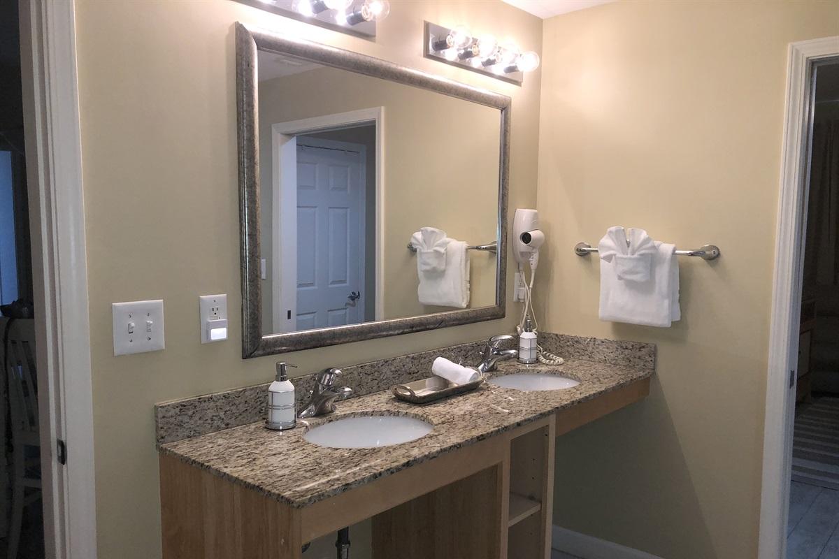 Secondary Bath Double Vanity