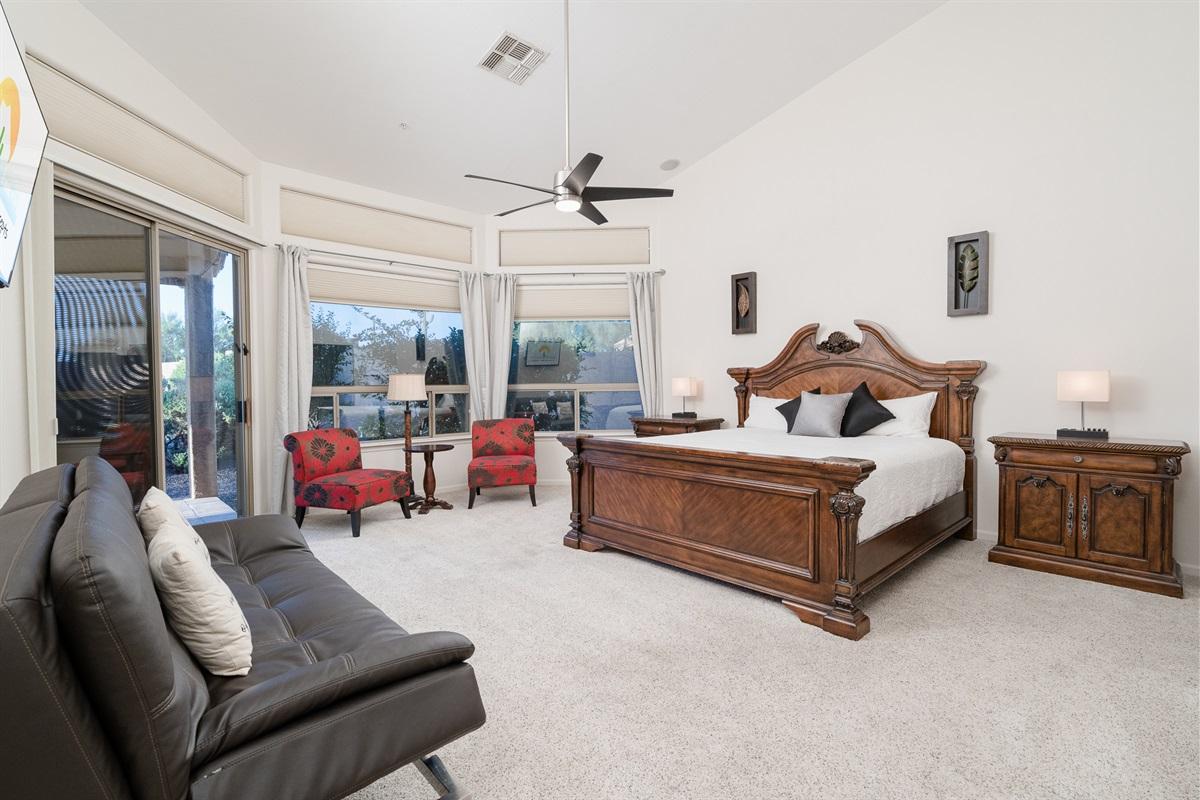 Master Bedroom 1 King + 1 Futon