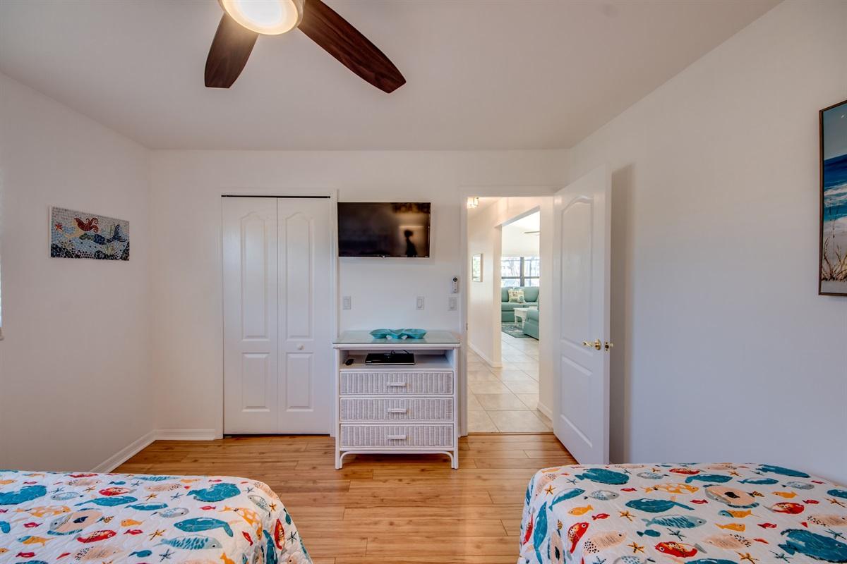 TVs in all bedrooms