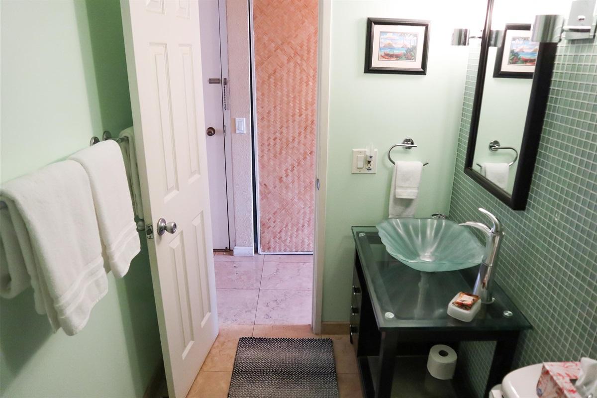 Totally remodeled bathroom