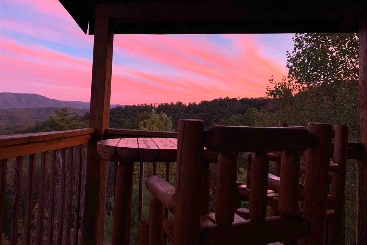 Enjoy a drink on your private balcony while watching the colors of the sunset