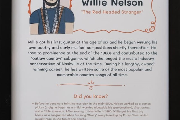"""Each room contains a custom """"info sheet"""" with history and interesting facts about these amazing artists"""