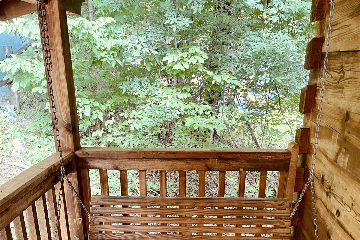 Southern porch swing for two