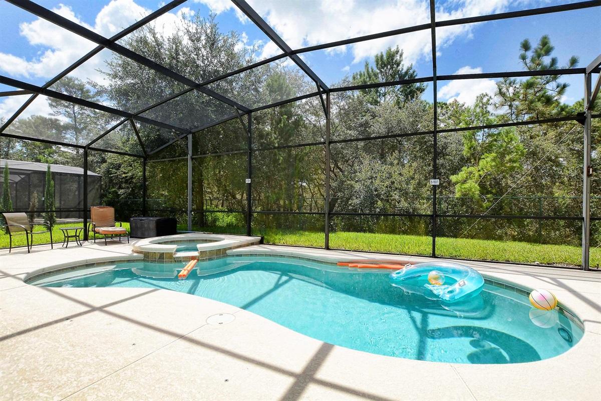 The beautiful, heated pool!