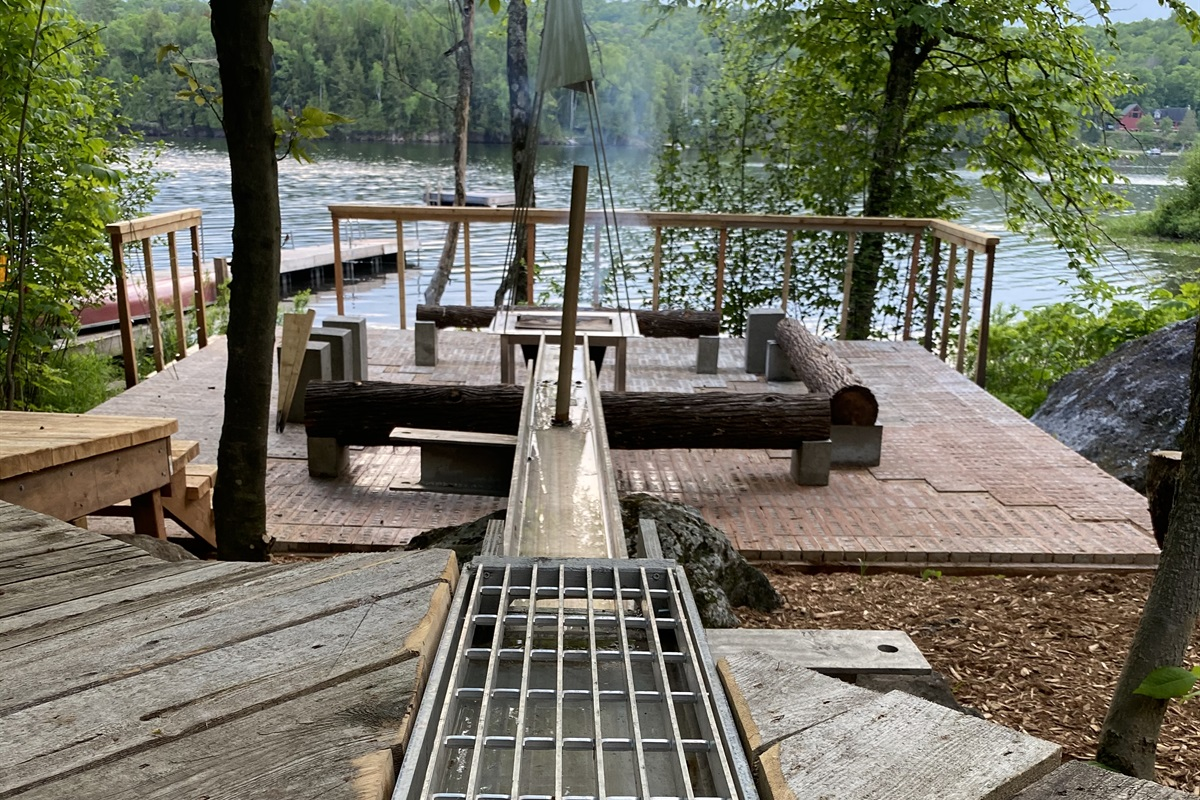 When it rains, the camp fire fills up to create a reflecting pond - make ur wish!