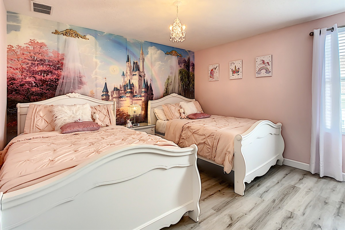 a Princess themed bedroom,