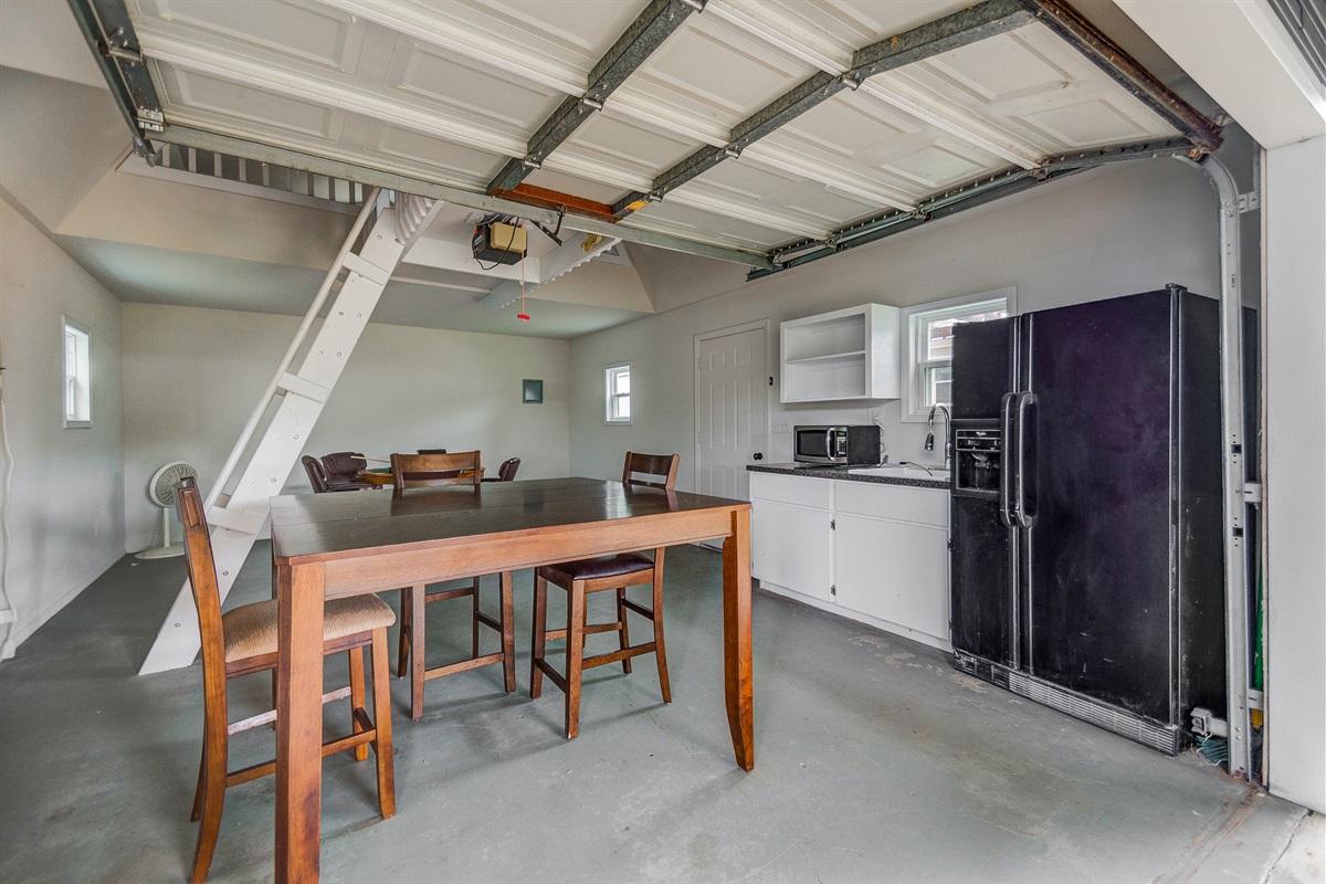 Mancave with loft