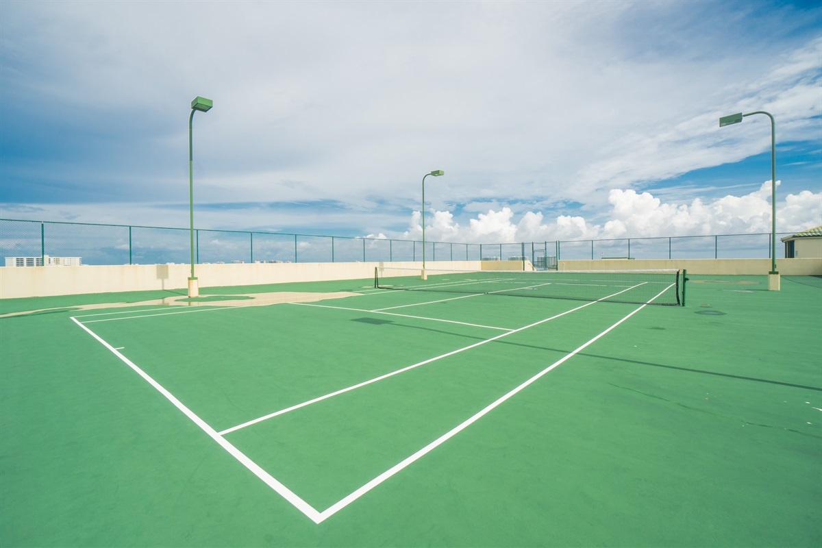 Rooftop tennis!