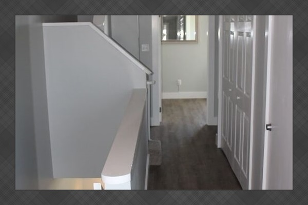 Hallway and stairway to loft area
