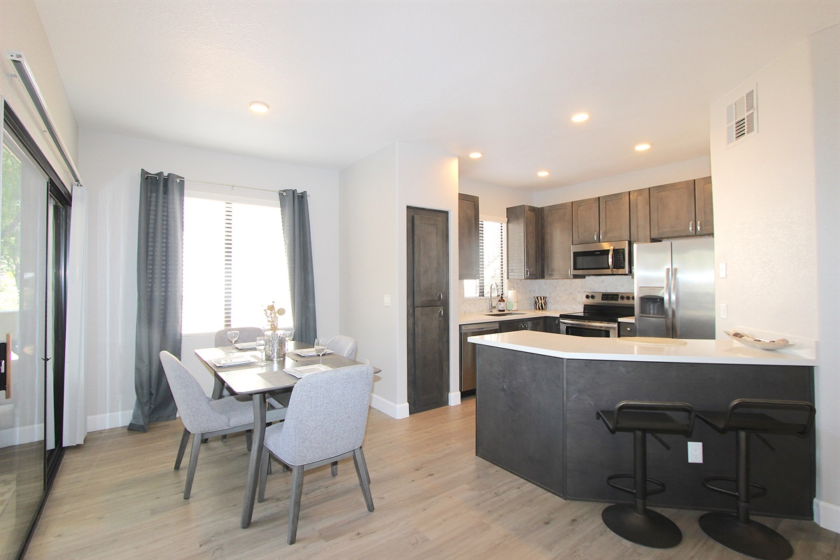 All new open concept living, dining, kitchen