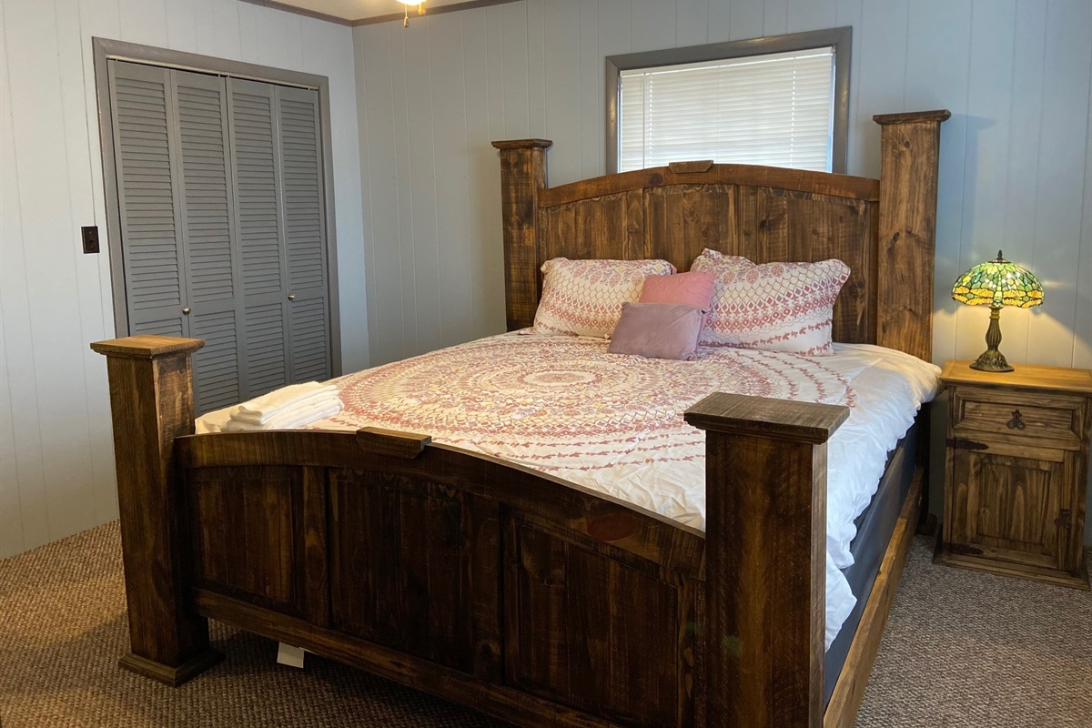 King Size Bed in other bedroom.