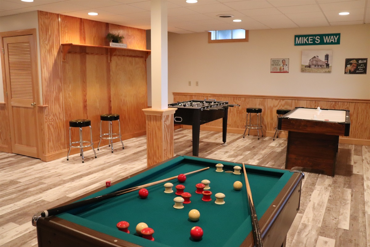 Lower level game room.
