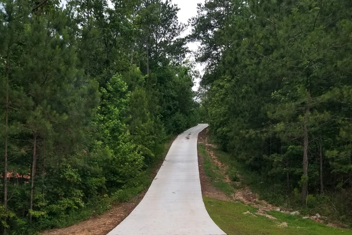 Long paved Driveway into the house.