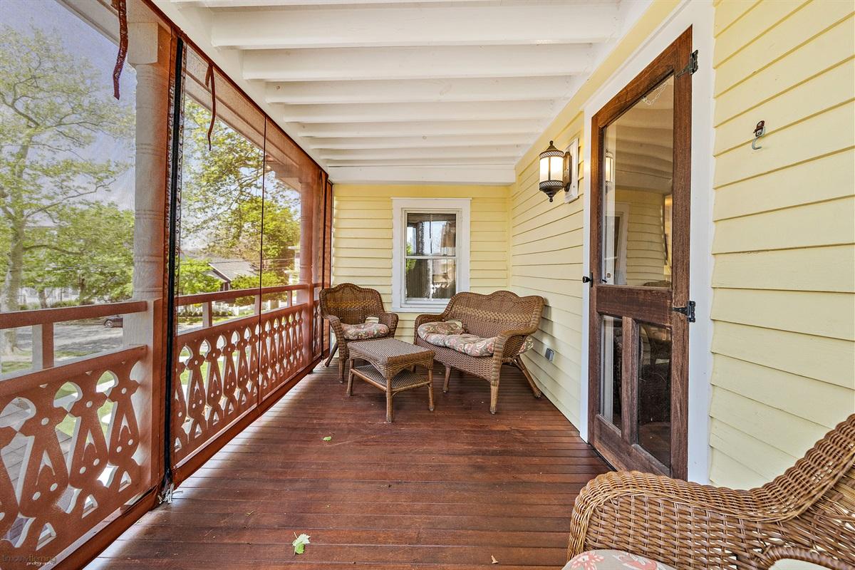 2nd Floor mahogany porch