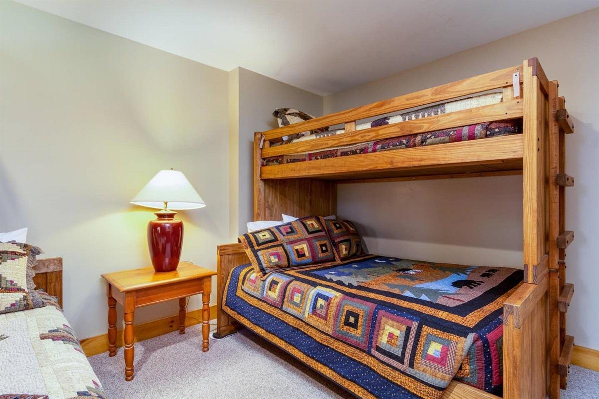 Basement:  Bunk Bedroom with adjacent shared bathroom