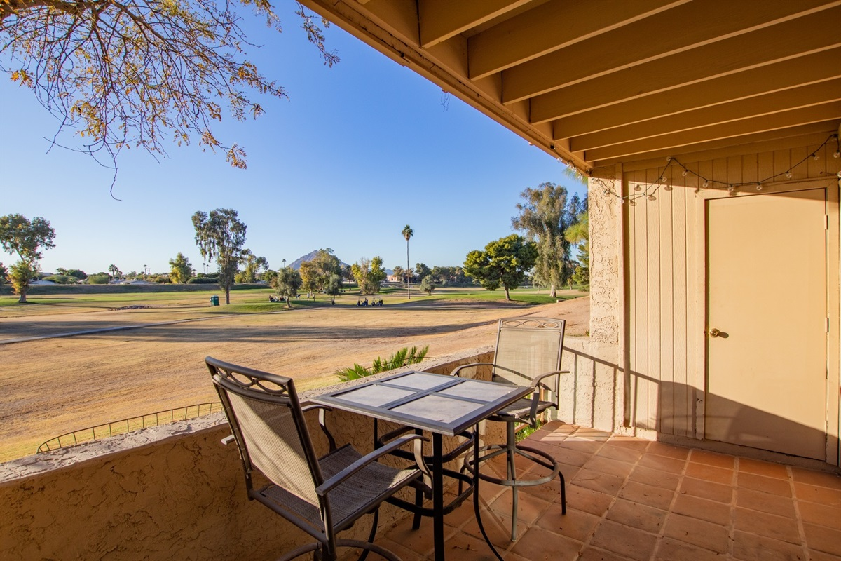 Private Patio with Golf Course Access