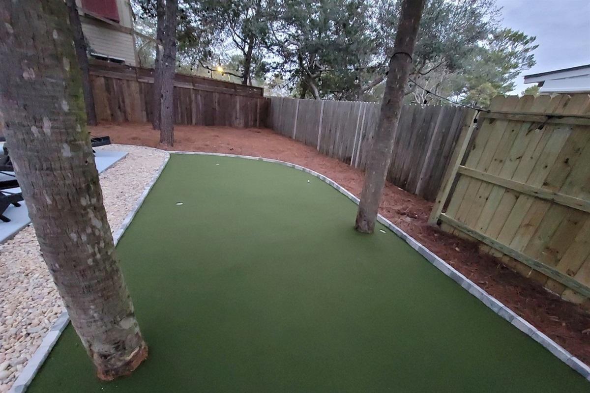 Custom 3 hole mini golf track